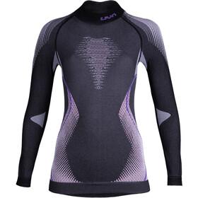 UYN Evolutyon Melange UW LS Turtle Neck Shirt Dam anthracite melange/raspberry/purple